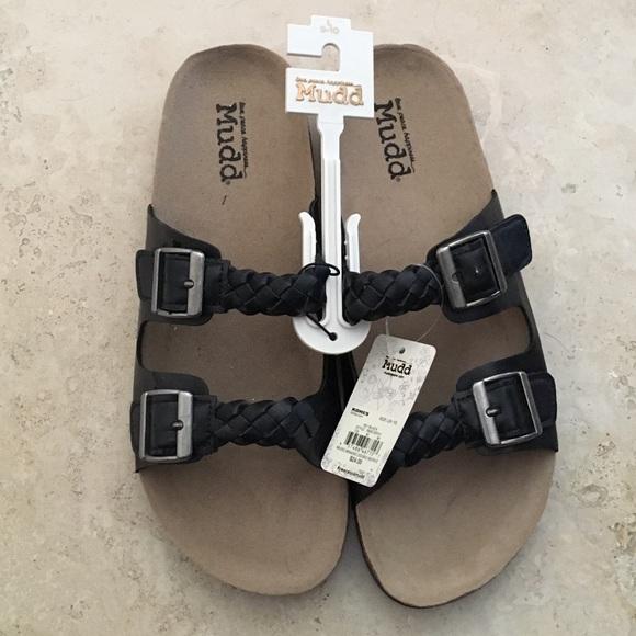 2fa66dbb725728 NWT MUDD Braided Double Buckle Summer Sandals 👡